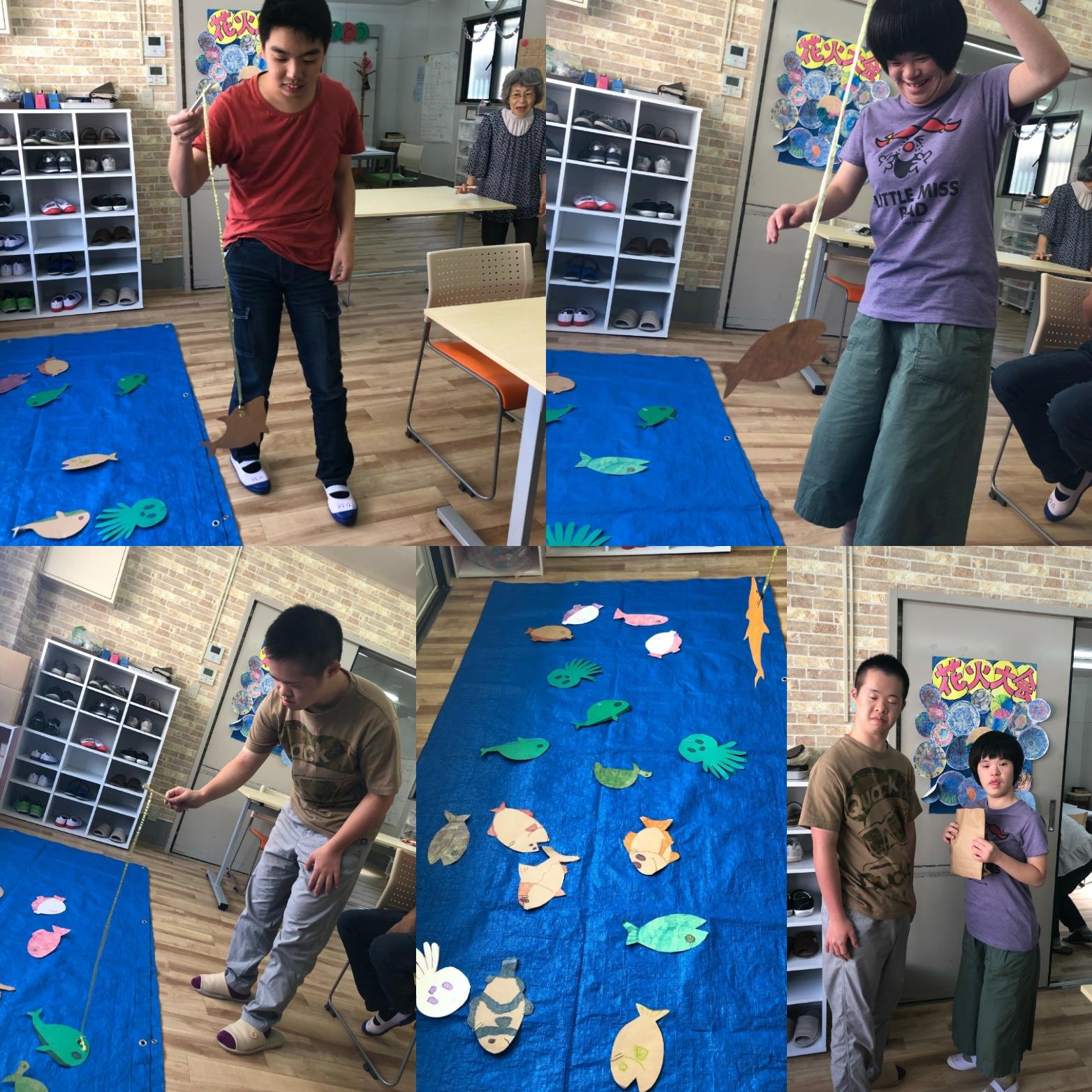 7月お誕生日会&魚釣りゲーム(テンダァハートさてらいと・狭山)